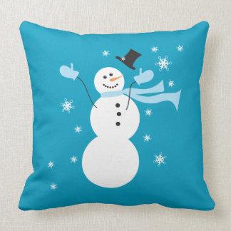 Winter Wonderland Snowman Pillow