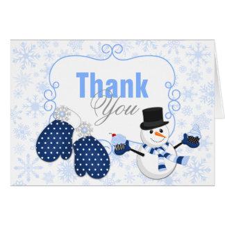 Winter Wonderland Snowman Thank You Card