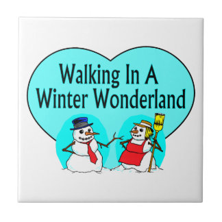Winter Wonderland Snowmen Small Square Tile