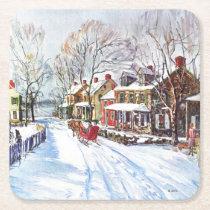Winter Wonderland Square Paper Coaster