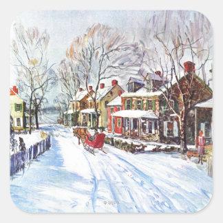 Winter Wonderland Square Sticker