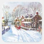 Winter Wonderland Square Stickers