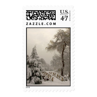 Winter Wonderland Stamp Snow Covered Trees Postage