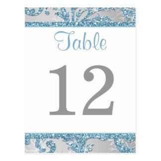 Winter Wonderland Table Number Card 2 Postcards