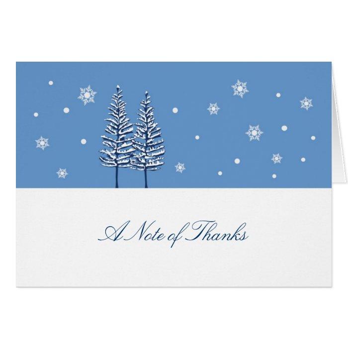 Winter Wonderland Thank You Card