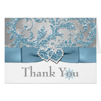 Winter Wonderland Thank You Note Card 2