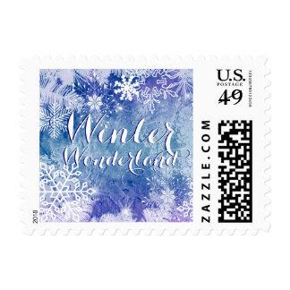 Winter Wonderland Theme Invitation Stamp