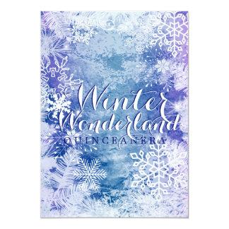 Winter Wonderland Theme QUINCEAÑERA Birthday Card