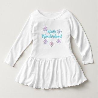 Winter Wonderland Toddler Ruffle Dress