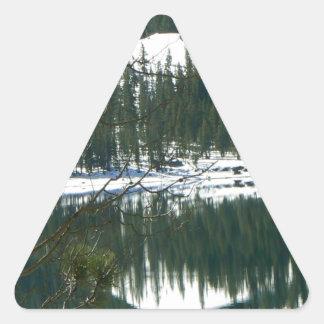 Winter wonderland. triangle sticker