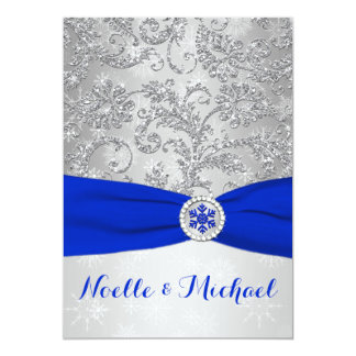 Winter Wonderland Wedding   Crystal Buckle   Blue Card