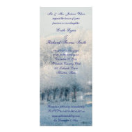 Winter Wonderland Wedding Custom Invitation