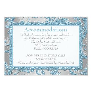 Winter Wonderland Wedding Enclosure Card 2