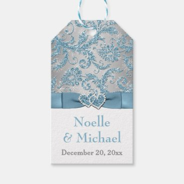 Winter Wonderland Wedding Favor Tag - Ice Blue Pack Of Gift Tags