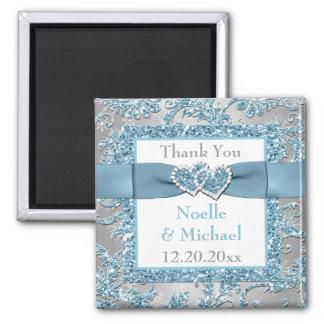 Winter Wonderland Wedding Favor Thank You Magnet