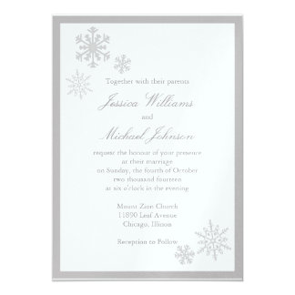 Winter Wonderland Wedding 5x7 Paper Invitation Card