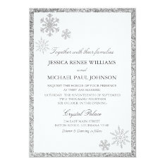 Winter Wonderland Wedding Invitations at Zazzle