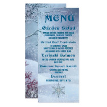 Winter Wonderland Wedding Menu Invitation
