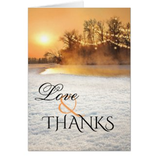 Winter Wonderland Wedding Photo Thank You Card