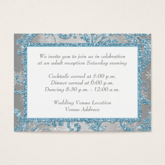 Winter Wonderland Wedding Reception Insert