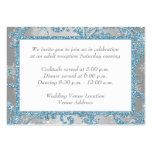 Winter Wonderland Wedding Reception Insert Large Business Cards (Pack Of 100)