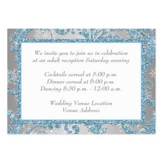 Winter Wonderland Wedding Reception Insert Large Business Card