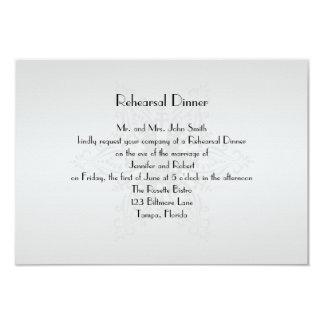 Winter Wonderland Wedding Rehearsal Dinner Card