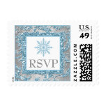 Winter Wonderland Wedding RSVP Postage
