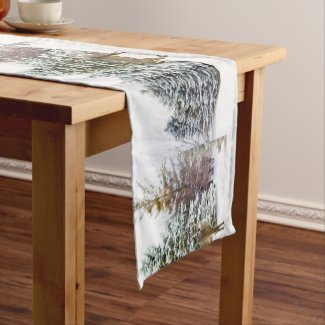 Winter Wonderland White Christmas Table Runner