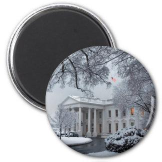 Winter Wonderland White House Refrigerator Magnet