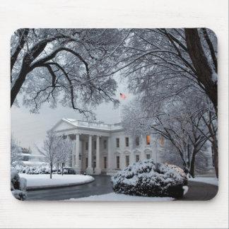 Winter Wonderland White House Mouse Pad