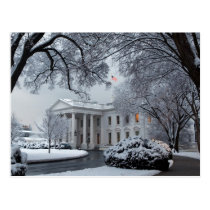 Winter Wonderland White House Postcard