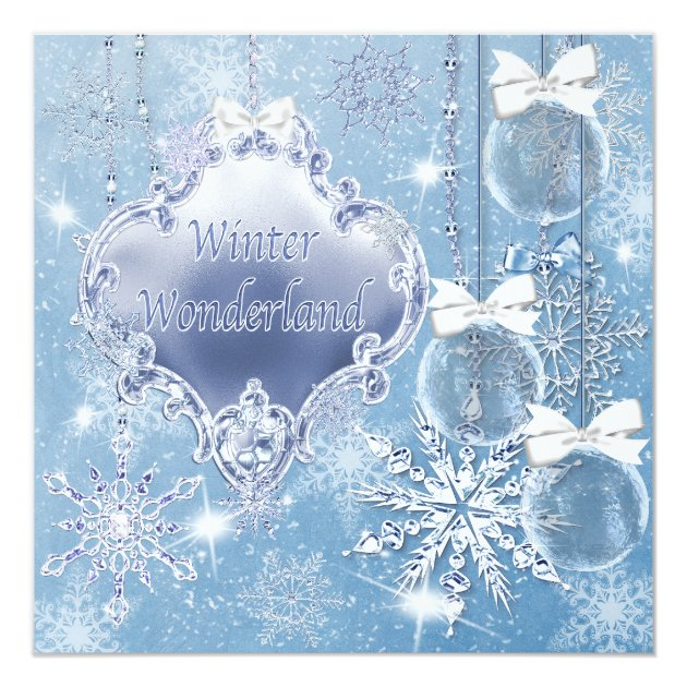 Winter Wonderland Winter Prom Invitations | Zazzle