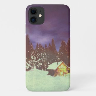 Winter Wonderland with Christmas greetings iPhone 11 Case