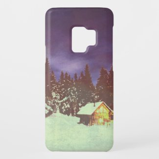 Winter Wonderland with Christmas greetings Case-Mate Samsung Galaxy S9 Case