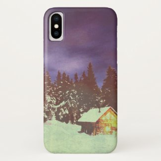 Winter Wonderland with Christmas greetings iPhone X Case