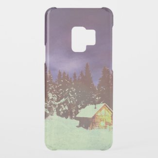 Winter Wonderland with Christmas greetings Uncommon Samsung Galaxy S9 Case