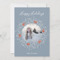 Winter Wonderland Wreath Flat Holiday Photo Card