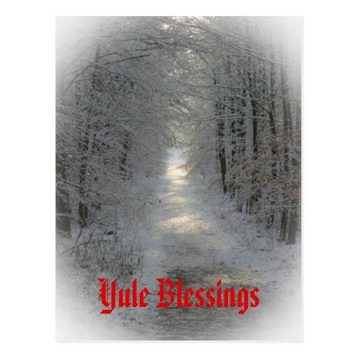 Winter Wonderland Yule/Winter Solstice Post Cards