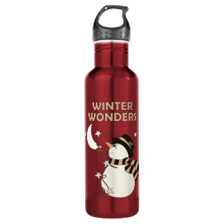 Winter Wonders (Three) Stainless Steel Water Bottle