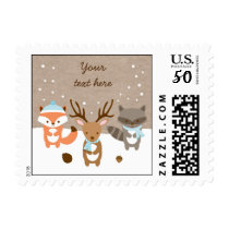 Winter Woodland Animal Baby Shower Postage