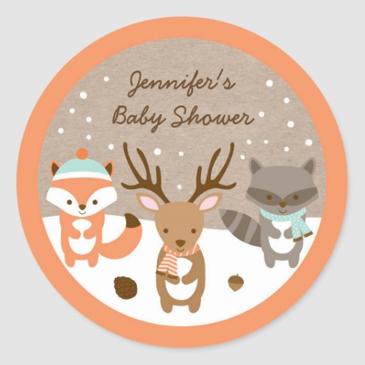 Winter Woodland Animal Stickers