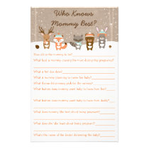 Winter Woodland Animal Who Knows Mommy Best Game Flyer