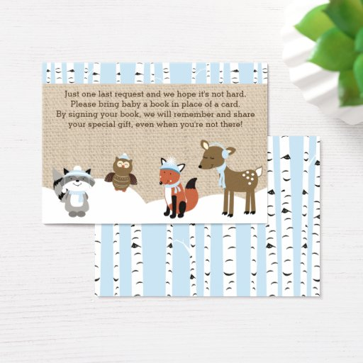 Winter Woodland Animals Book Request Cards