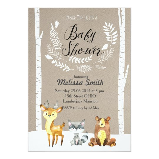 Winter woodland baby shower invitation zazzle winter woodland baby shower invitation filmwisefo Images