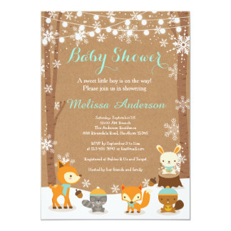 Winter Woodland Invitations Announcements Zazzle