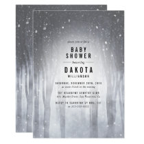 Winter Woodland | Elegant Forest Baby Shower Card