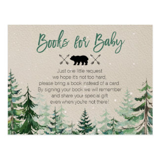 Winter Woodland Forest Books for Baby Postcard