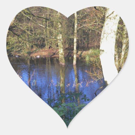 Winter Woodland Heart Sticker