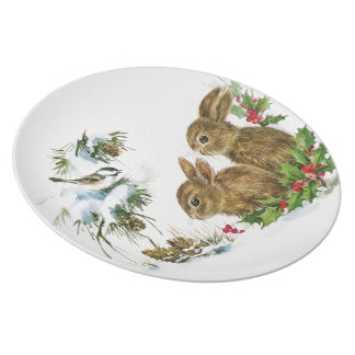 Winter Woodland Melamine Plate